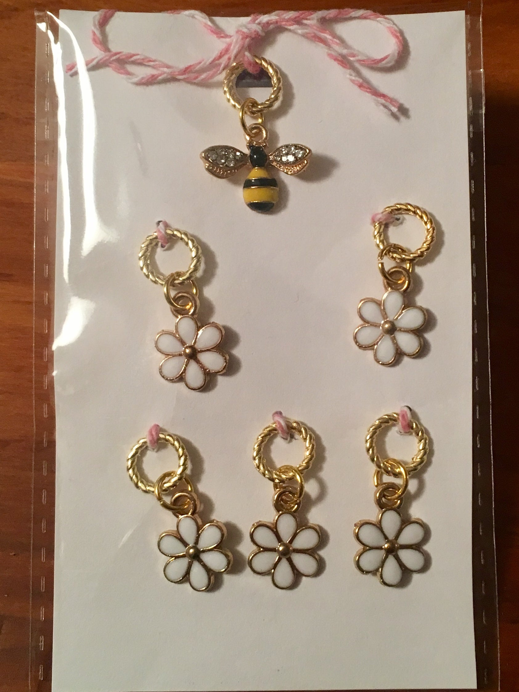 Bee & Flowers Stitch Marker Set