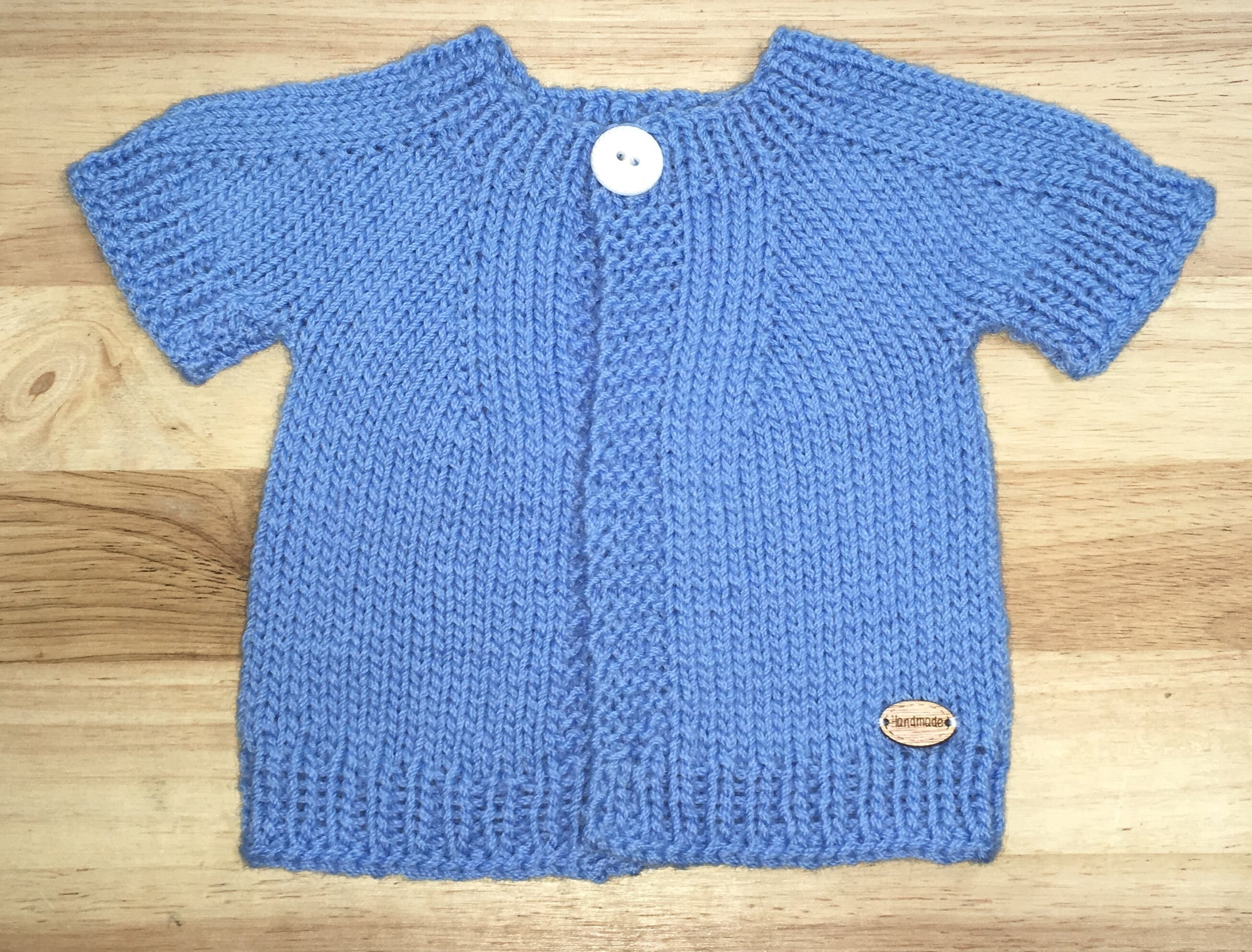 Blue Short Sleeved Cardigan / Jacket - Newborn