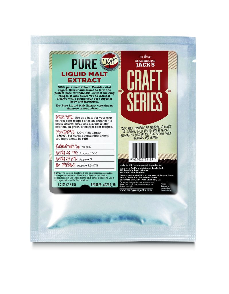 Mangrove Jack's Pure Liquid Malt Extract Light - 1.2kg
