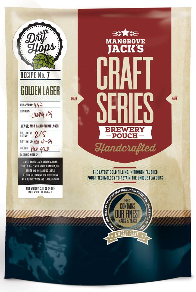 Mangrove Jack's Craft Series Golden Lager + dry hops -1.8kg
