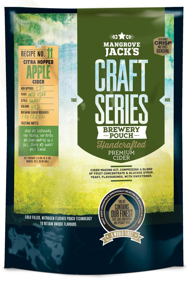 Mangrove Jack's Craft Series Citra Dry Hopped Apple Cider Pouch - 2.4kg