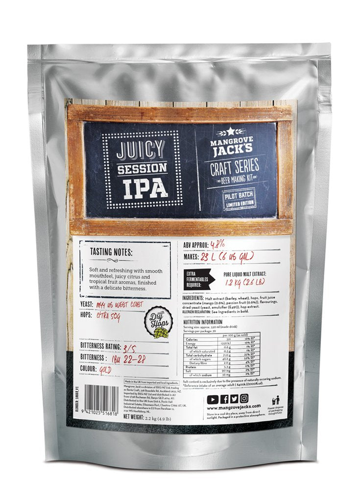 Mangrove Jack's Craft Series Juicy Session IPA