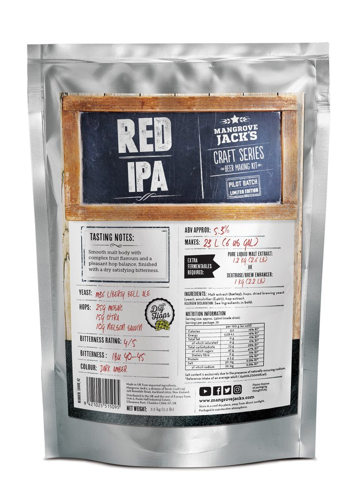 Mangrove Jack's CS Red IPA - 2.5kg