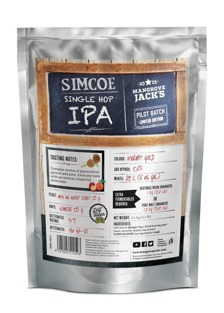 Mangrove Jack's CS Single Hopped IPA Simcoe - 2.5kg