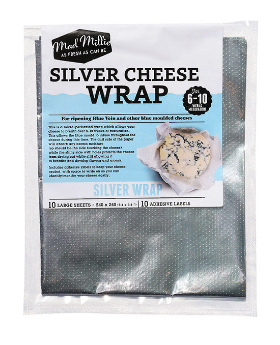 Mad Millie Silver Cheese Wrap (240x240) 10 Sheets