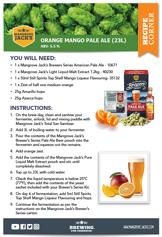 Mangrove Jack's Orange Mango Pale Ale