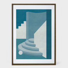 charlotte taylor circular stairwell print