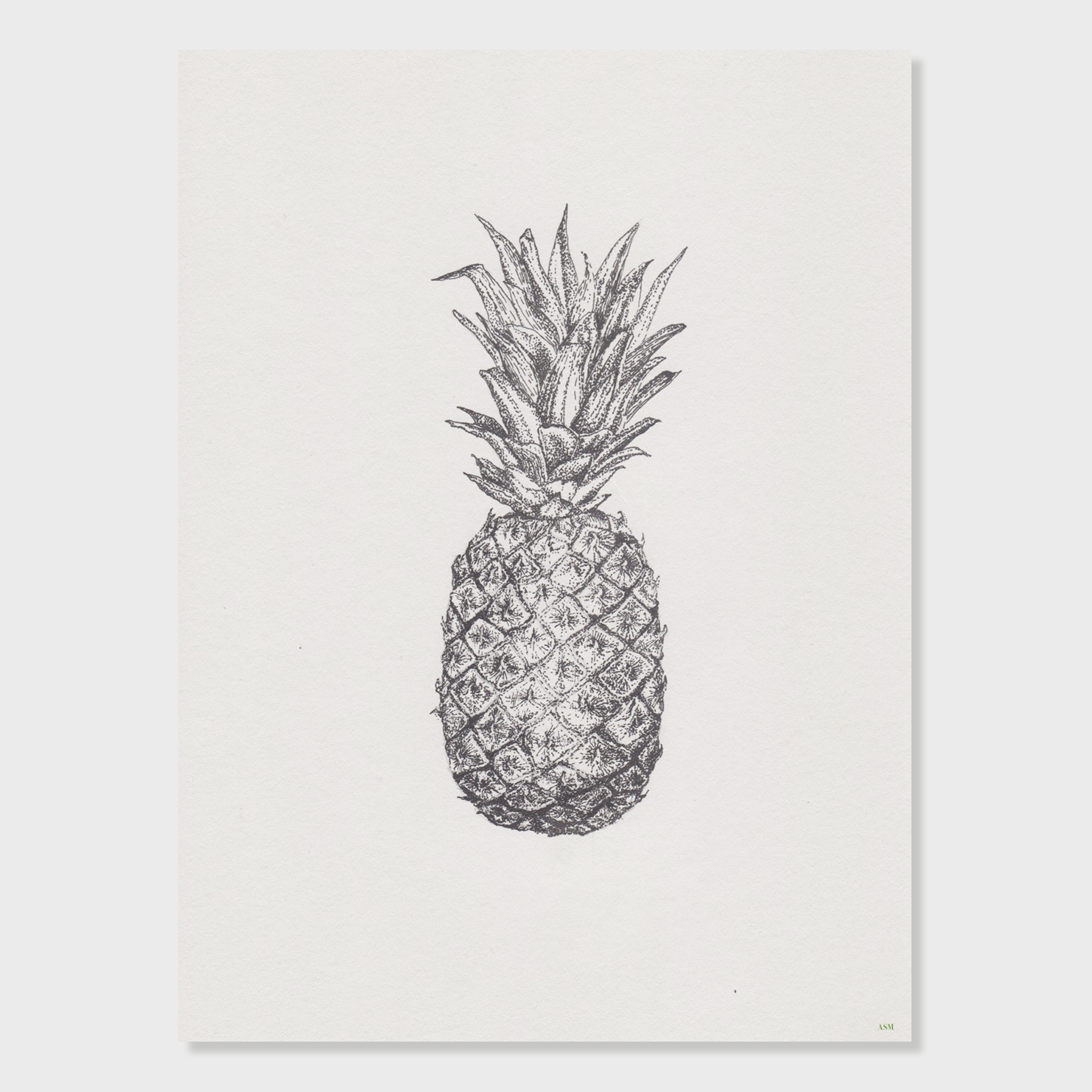 Antonia Sebag-Montefiore Hand-Drawn Pineapple Illustration Print | Vespiary