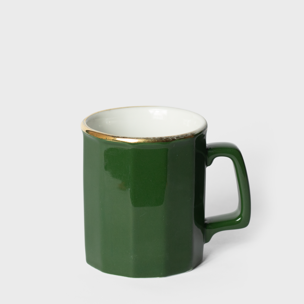 Forest Green Porcelain Mug