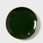 Forest Green Porcelain Side Plate