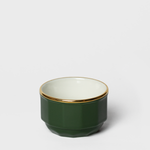 Forest Green Porcelain Sugar Bowl