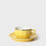 Mustard Yellow Porcelain Espresso Cup & Saucer