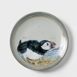 Green Hand-painted Puffin Plate