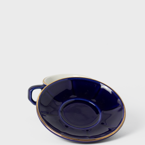 Royal Blue Porcelain Espresso Cup & Saucer