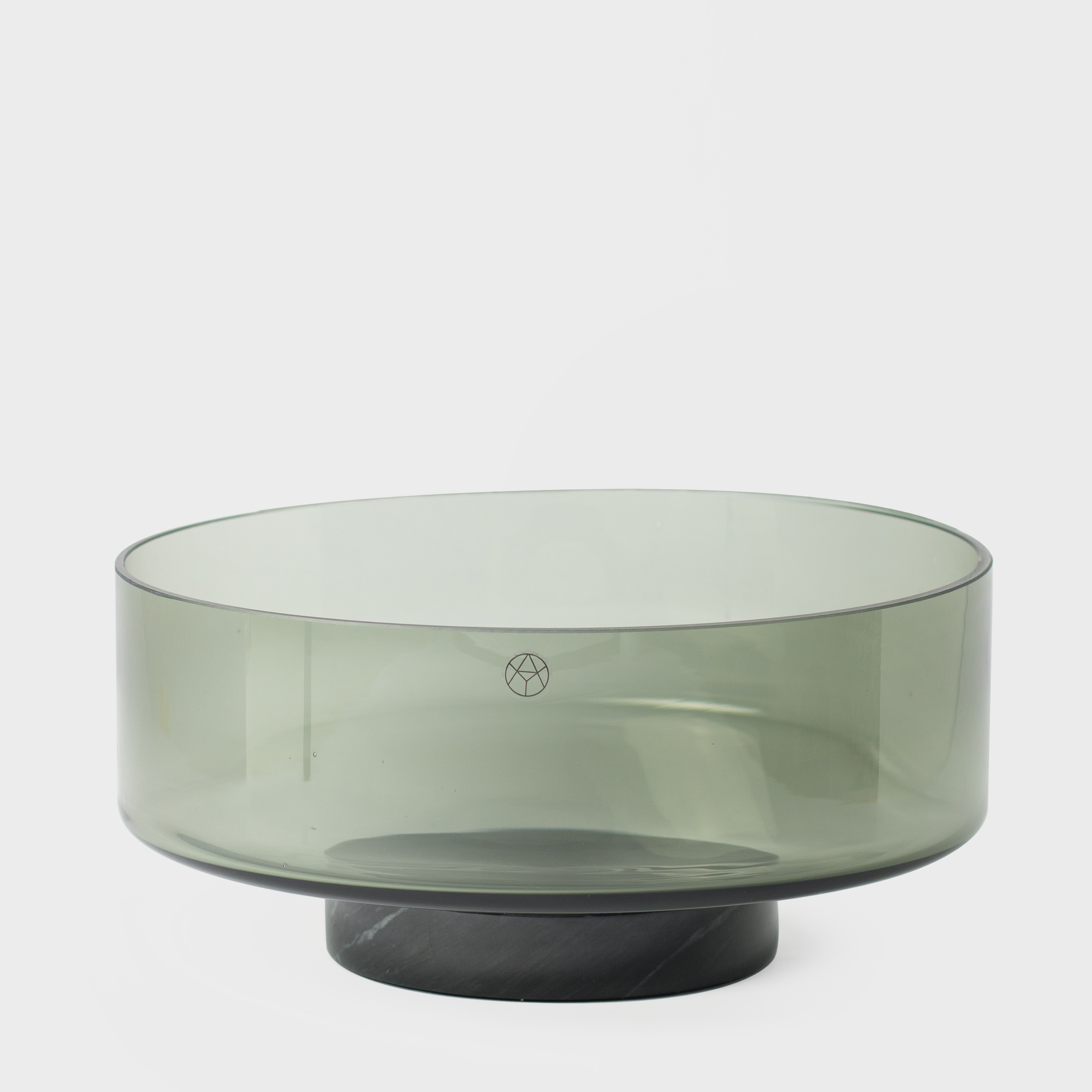 Vespiary Black Glass Bowl with Marble Base AYTM