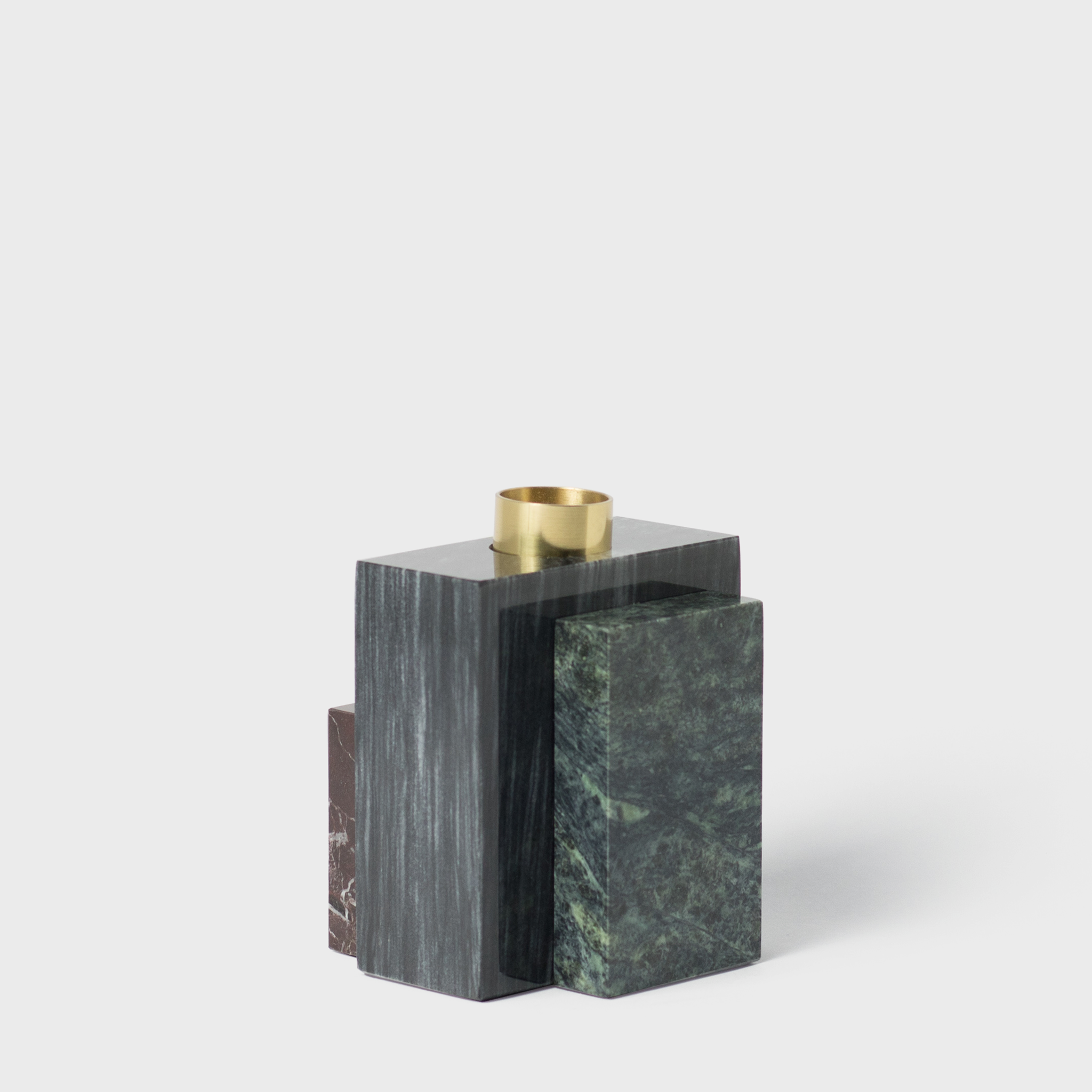 Black Marble Candle Holder