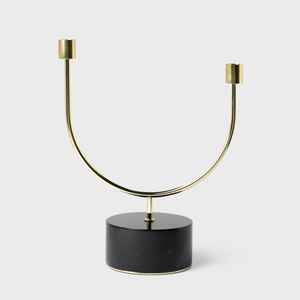 Vespiary Brass Candle Stick with Marble Base AYTM