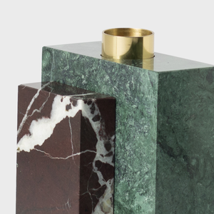 Forest Green Marble Candle Holder