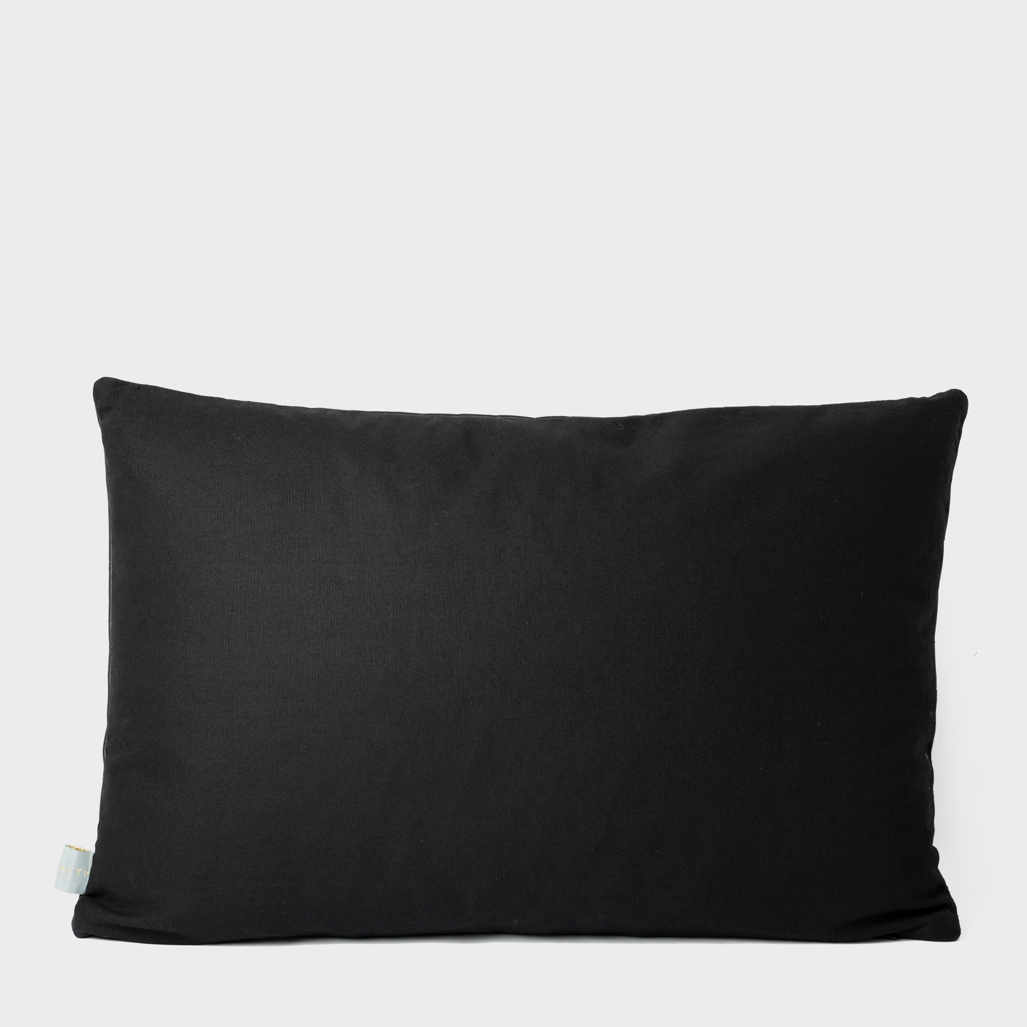 Black Quilted Leather Cushion
