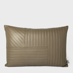 Vespiary Walnut Quilted Leather Cushion AYTM