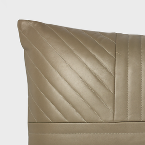 Walnut Quilted Leather Cushion
