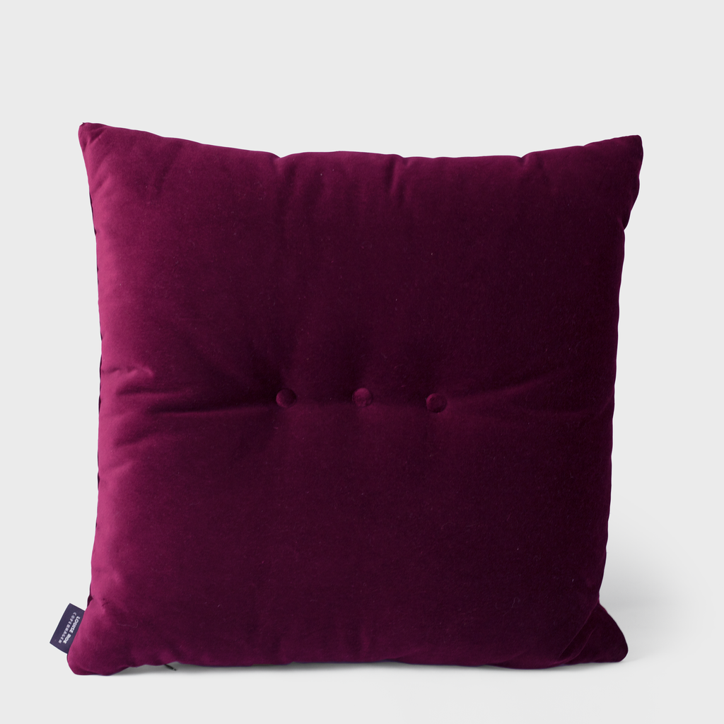 Vespiary Bordeaux Velvet Cushion Louise Roe