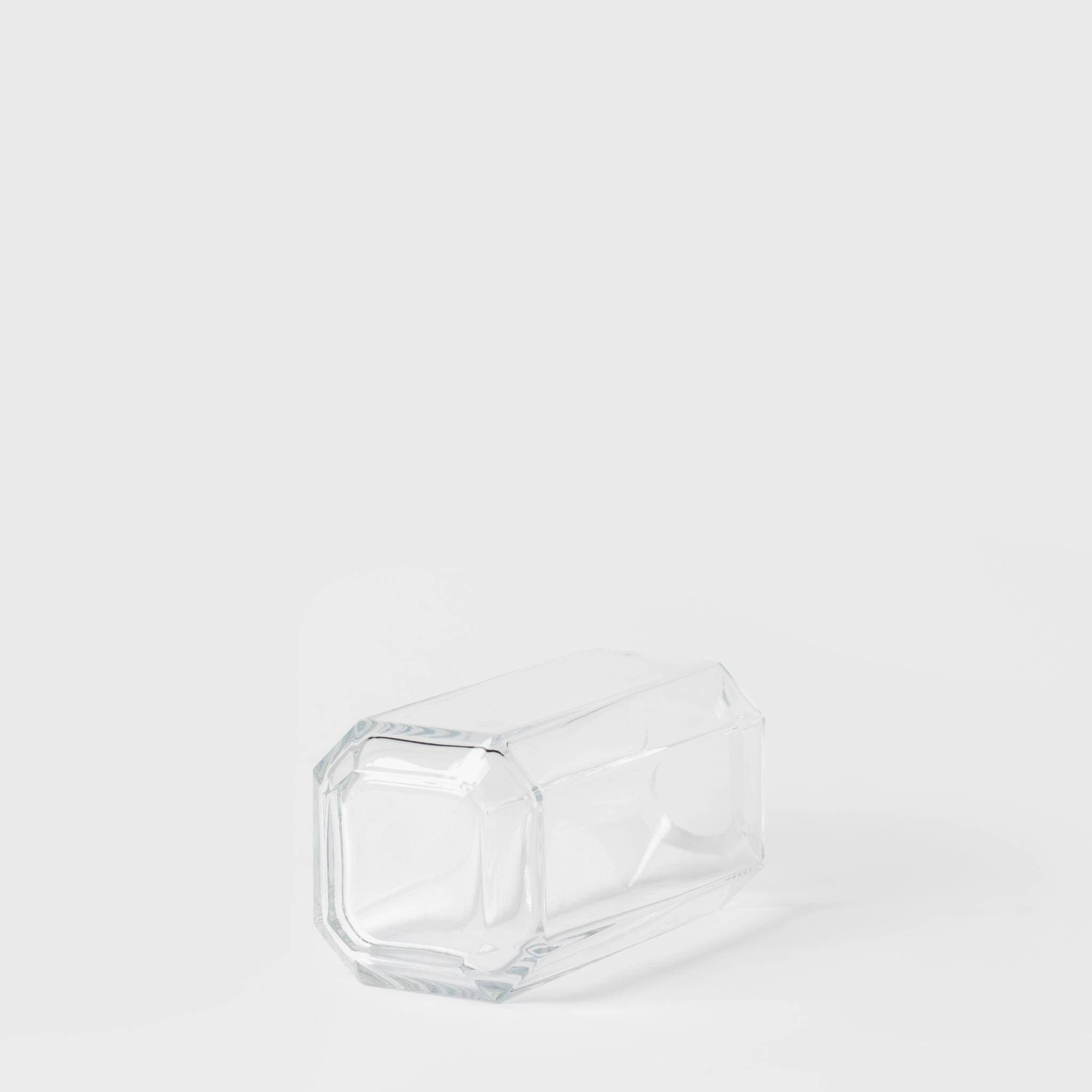 Clear Glass Jewel Vase Small