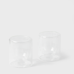 Vespiary Clear Lowball Glasses - Set of 2 Yield