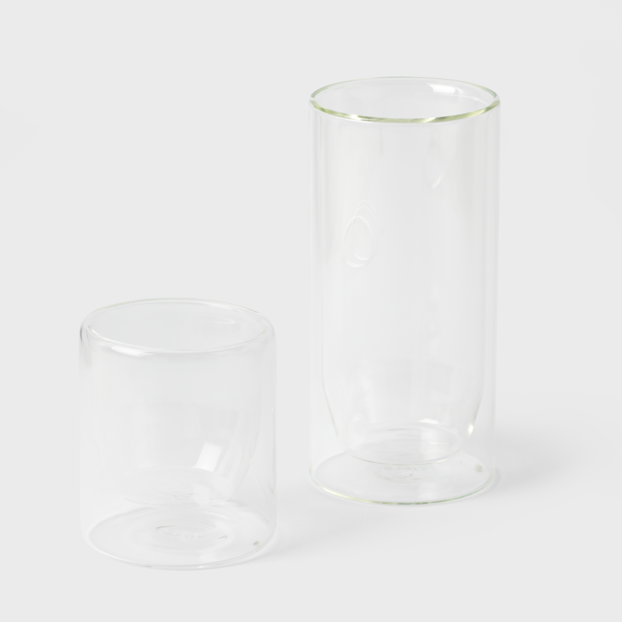 Clear Lowball Glasses - Set of 2