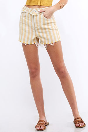 Sun & Stripes High Waisted Shorts