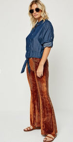 Copper Flared Pants
