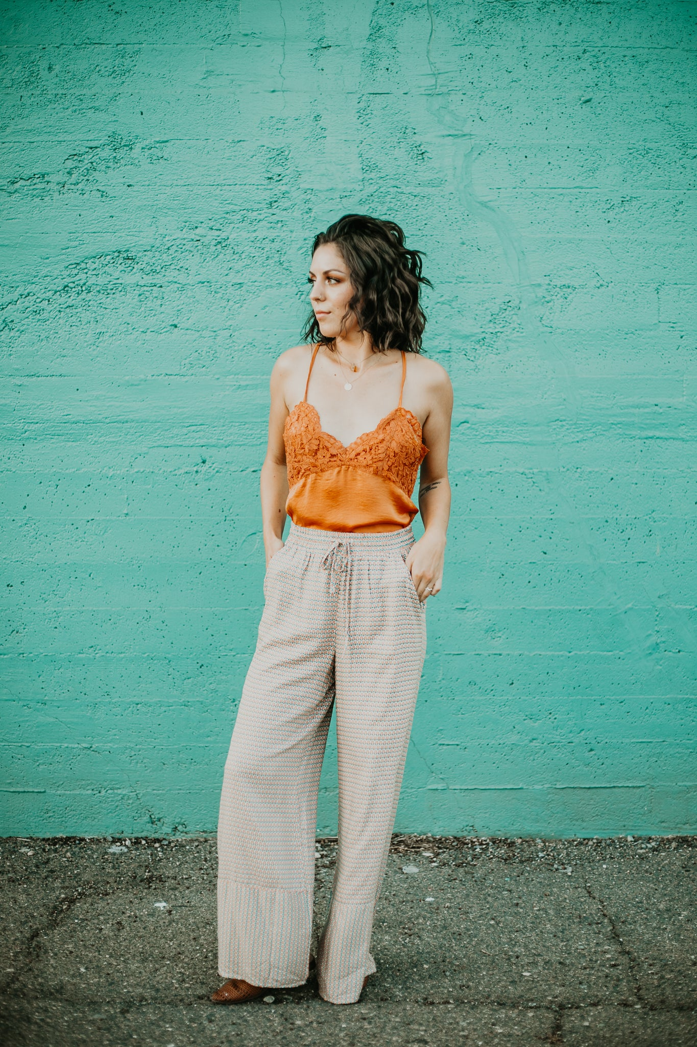 Sea Shell Wide Leg Pants
