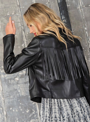 Forever fringed jacket