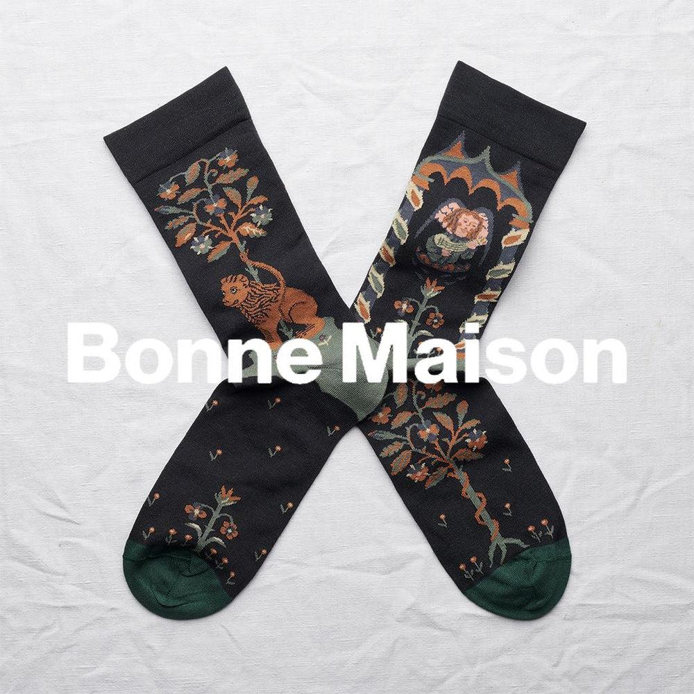 bonne maison dark angel socks