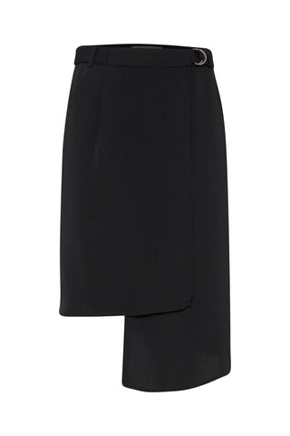 ICHI Blaze Black Skirt - Coffee and Cloth