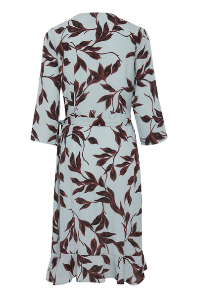 ICHI Wrap Over Dress- 1 Size Left! - Coffee and Cloth
