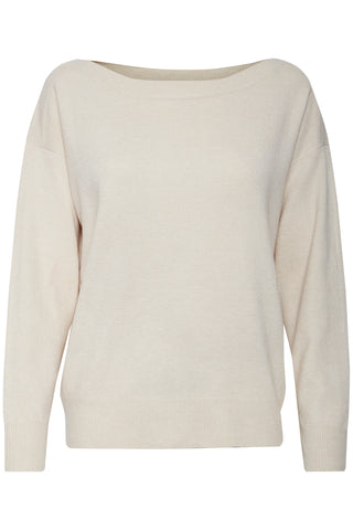 ICHI Cream Pullover Jumper - Coffee and Cloth