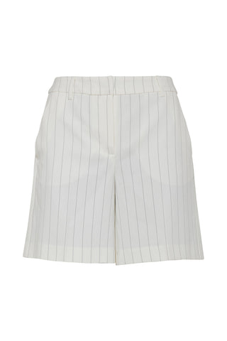 Cream And Beige Pin Striped Shorts