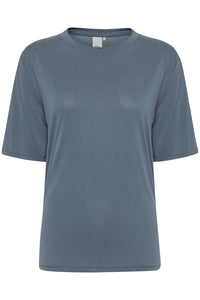 ICHI Selma Soft blue T Shirt - Coffee and Cloth