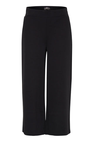 ICHI Navy Cropped Culottes - Coffee and Cloth