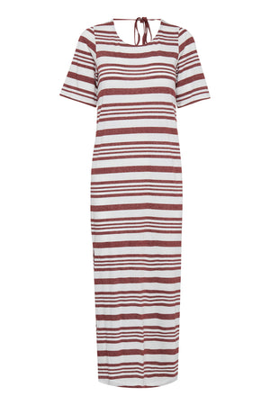 Load image into Gallery viewer, ICHI Andorra Stripe Jersey Dress - Coffee and Cloth