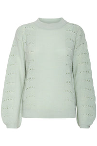 ICHI Mint Green Pullover Jumper - Coffee and Cloth
