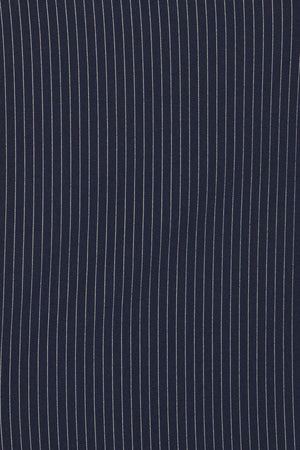 ICHI Navy Pinstripe Culottes - Coffee and Cloth