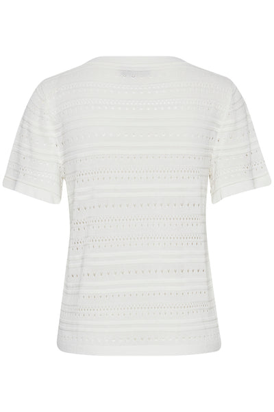 ICHI Ivory Knitted Top - Coffee and Cloth