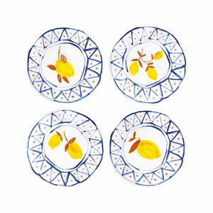 Load image into Gallery viewer, &klevering Set Of 4 Moroccan Lemon Plates