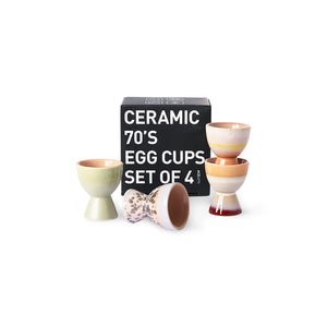 Load image into Gallery viewer, Multicolour Ceramic Egg Cups