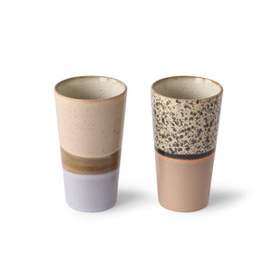 Set of 2 handleless mugs by dutch brand HK living