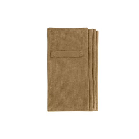 Khaki Everyday Napkin Set Of 4 - Coffee and Cloth