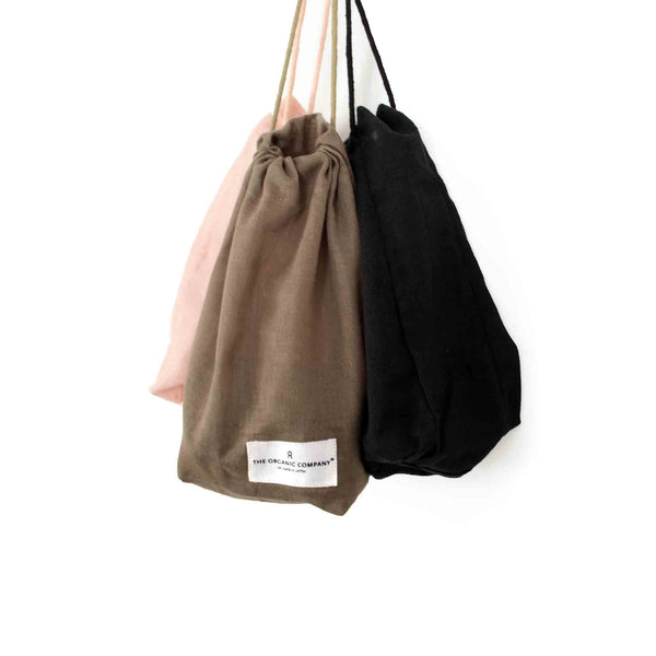 The Organic Company Small Pale Rose All Purpose Bag - Coffee and Cloth