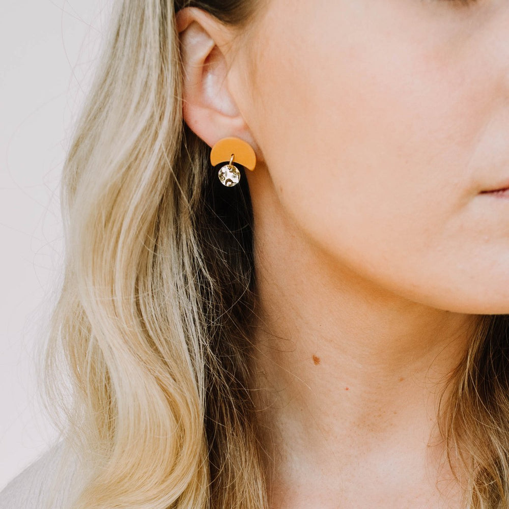 Load image into Gallery viewer, Pepper You Mini Annabelle Earrings in Orange